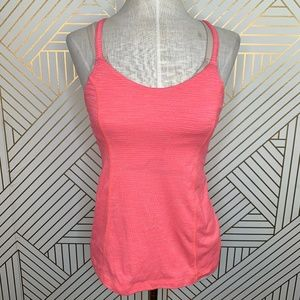 Lululemon Run For Gold Tank Heather Electric Coral